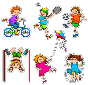 Children Playing at different Sports