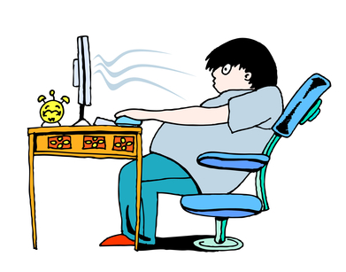 Sitting at Desk with Poor Posture